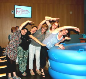 Midwives having fun in the Barcelona Waterbirth Certification Course